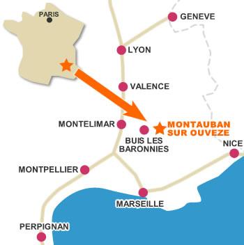 Montauban sur Ouvze Provence Access Map Bergerie de la Trappe
